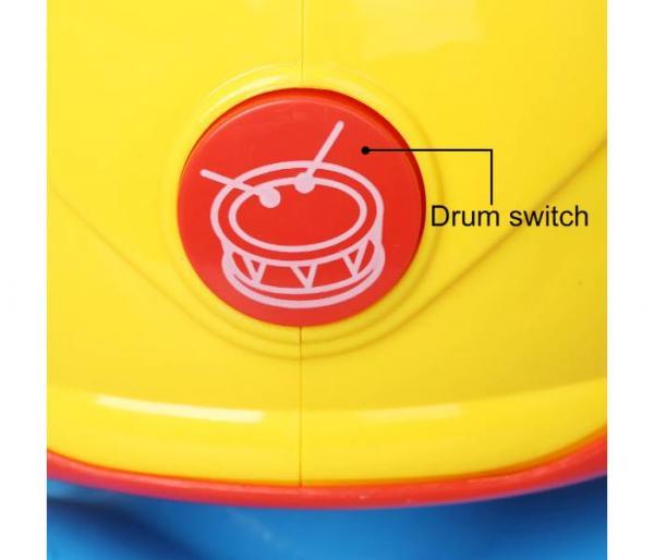περιστρεφόμενο μουσικό τύμπανο με φως διακόπτης τυμπάνου