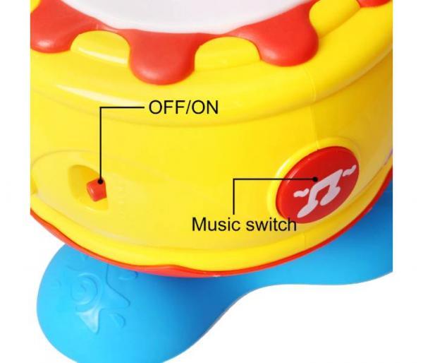 περιστρεφόμενο μουσικό τύμπανο με φως διακόπτης μουσικής