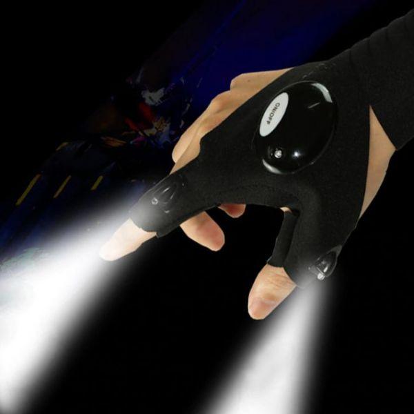Φουτουριστικά Γάντια με Φως στα Δάχτυλα για βραδυνές δραστηριότητες