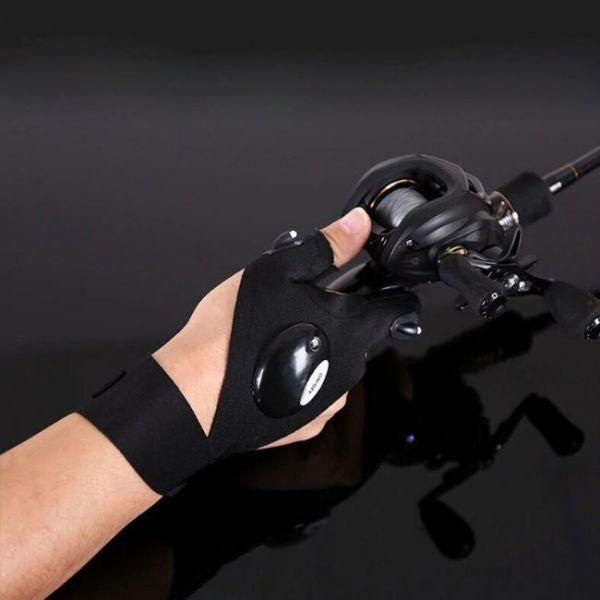 Φουτουριστικά Γάντια με Φως στα Δάχτυλα για ψάρεμα