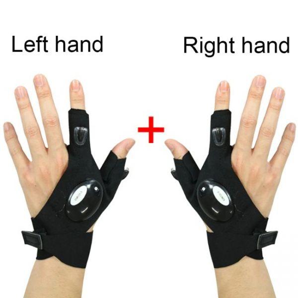 Αριστερό και δεξί γάντι σετ γαντιών με φακό