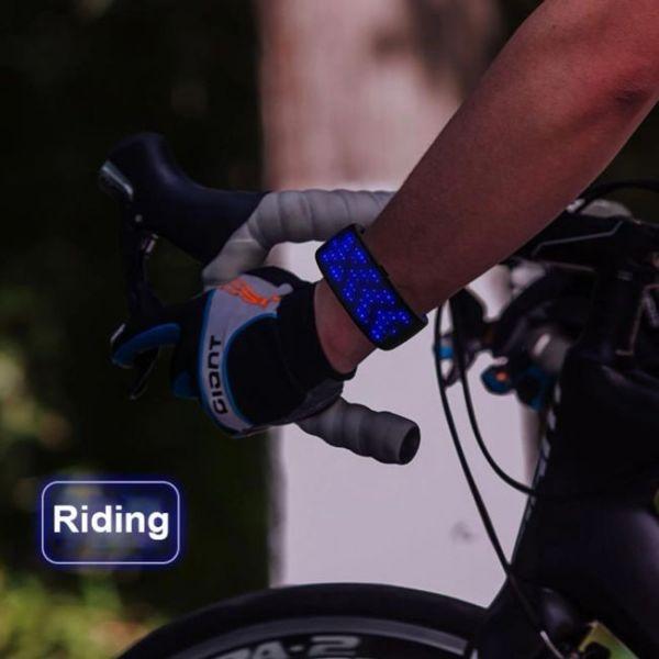 Βραχιόλι LED φουτουριστικό iδανικό για νυχτερινούς ποδηλάτες