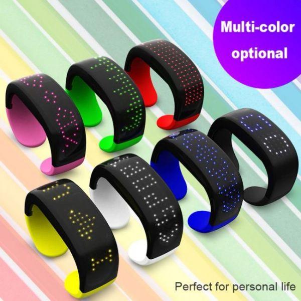 Βραχιόλι LED φουτουριστικό - πολλά χρώματα και πολύχρωμο