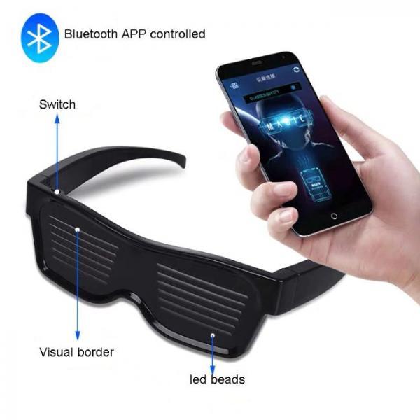 Γυαλιά Bluetooth Led συνδεδεμένα με smartphone
