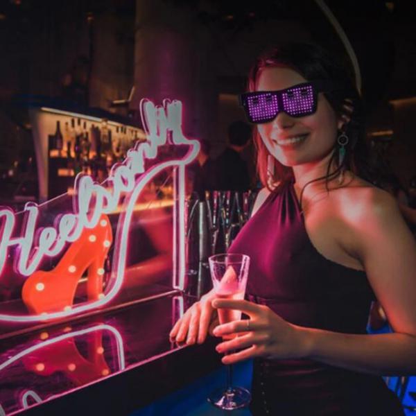 Γυαλιά Bluetooth Led συνδεδεμένα με smartphone must για νυχτερινά κλαμπ