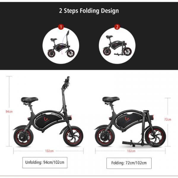 KUGOO B1 Ηλεκτρικό Ποδήλατο - πως αναδιπλώνεται