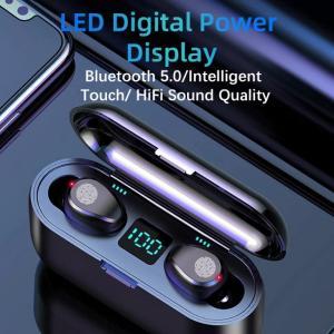 Ασύρματα ακουστικά F9 με κρυστάλλινο ήχο και οθόνη LED