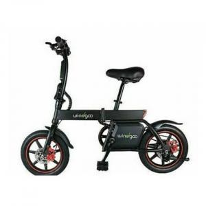 Εύκολα πτυσσόμενο μαύρο ηλεκτρικό ποδήλατο