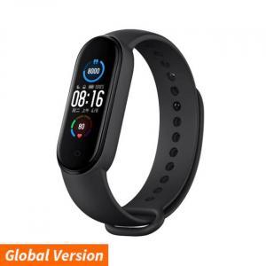 Μαύρο έξυπνο ρολόι υγείας Xiaomi Mi Band 5